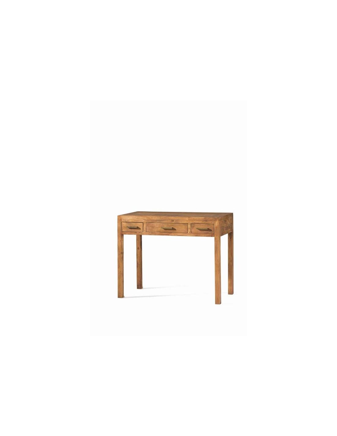 Comprar mesa escritorio de madera 100 cm rustico modular - Escritorios de madera ...