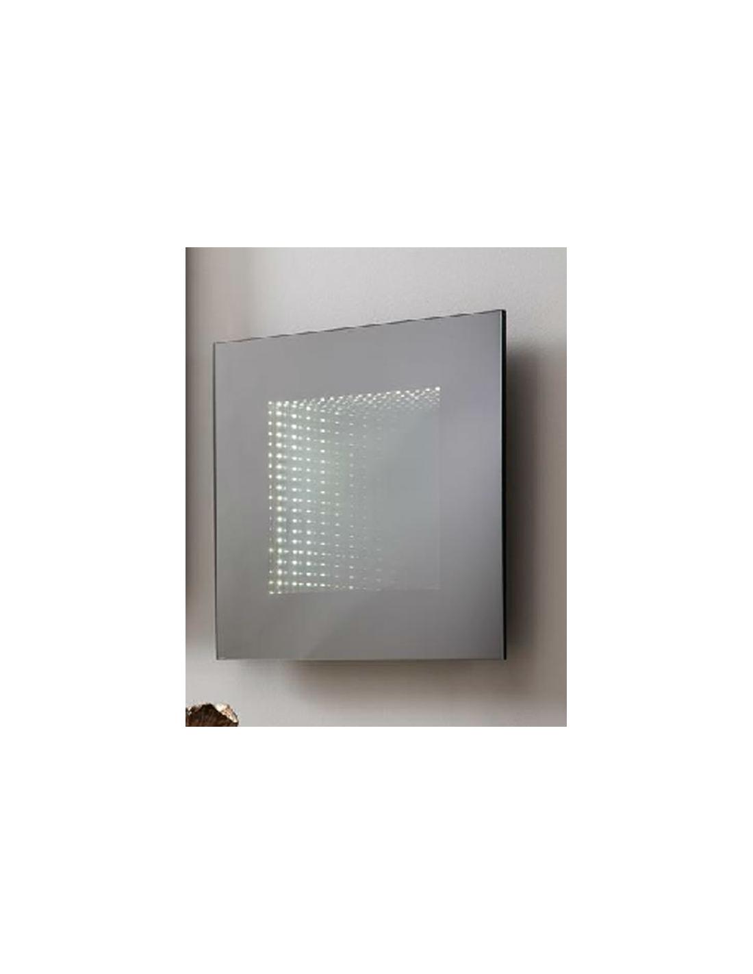 comprar espejo cuadrado de 50 x 50 cm con leds sin moldura