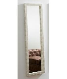 Espejo rectangular blanco desgastado 43 x 157 cm