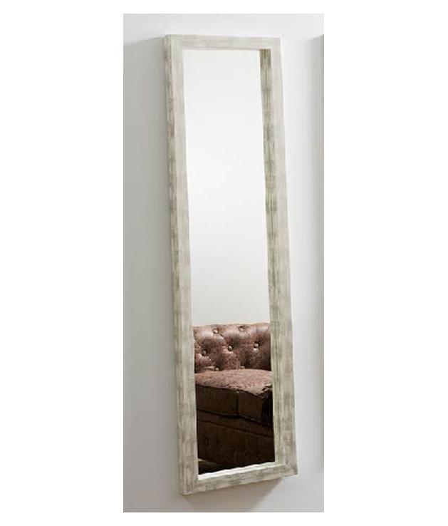 Comprar espejo decorativo rectangular blanco desgastado 43 for Espejos decorativos blancos
