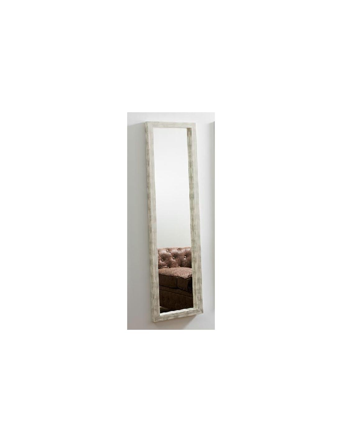 Comprar espejo decorativo rectangular blanco desgastado 43 for Espejo rectangular