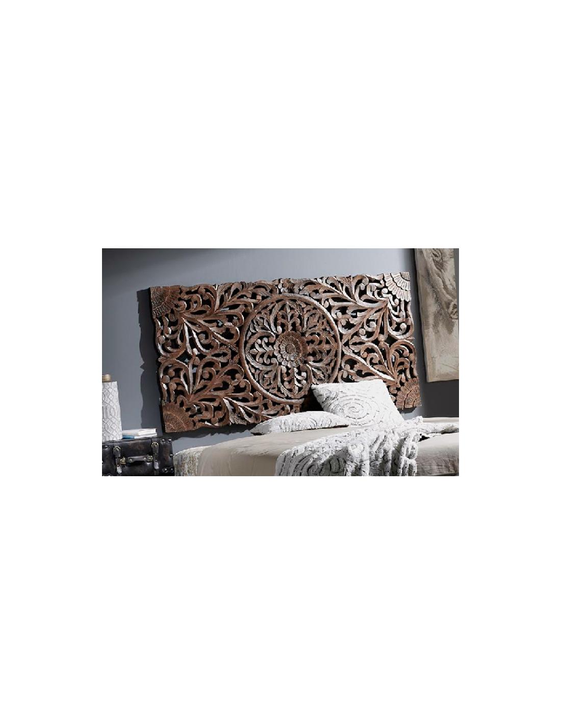 Comprar cabecero de madera tallada de estilo tnico de - Cabecero madera tallada ...