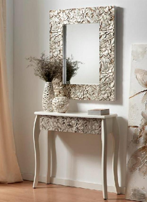 Mesa para recibidor en madera - Mesa de recibidor ...