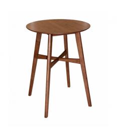 Mesa bar madera acabado nogal