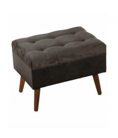 Banqueta arcón pie de cama 60 cm madera tapizada en tela gris