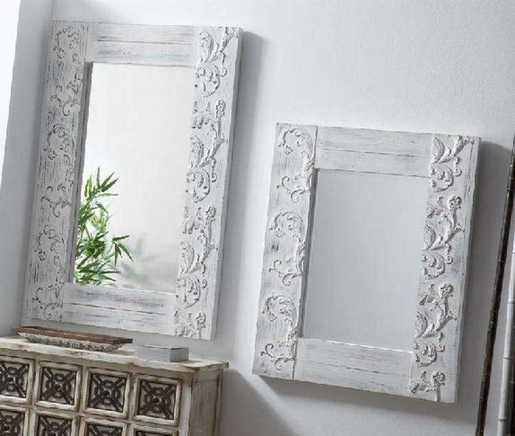 Espejo decorativos espejo he patrick metal trenzado for Espejos decorativos blancos