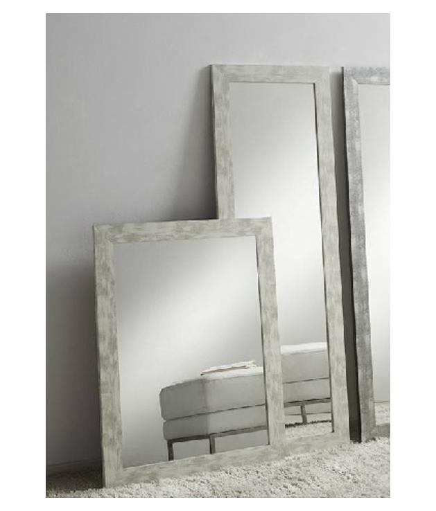 Comprar espejo decorativo madera decapado blanco dos medidas for Espejos decorativos blancos