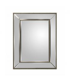 Espejo pared cristal espejo detalle marco en color gris
