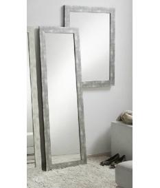 Espejo decorativo madera decapado gris