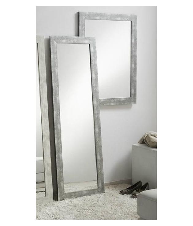 Comprar espejo decorativo madera decapado gris dos medidas for Espejo marco gris