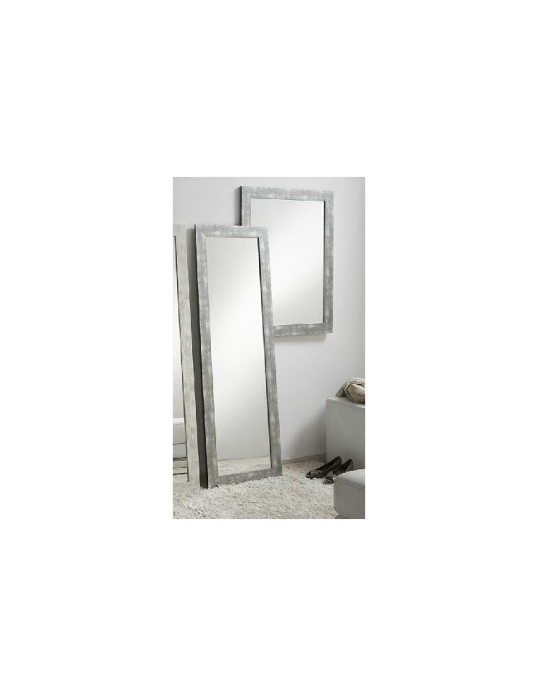 Comprar espejo decorativo madera decapado gris dos medidas for Espejos decorativos blancos