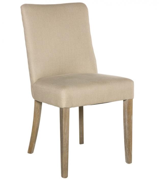 Comprar silla comedor tapizada beige modelo ana madera roble for Sillas comedor polipiel beige