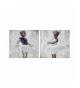 Set 2 lienzos bailarinas 100% pintado man.60x3x60