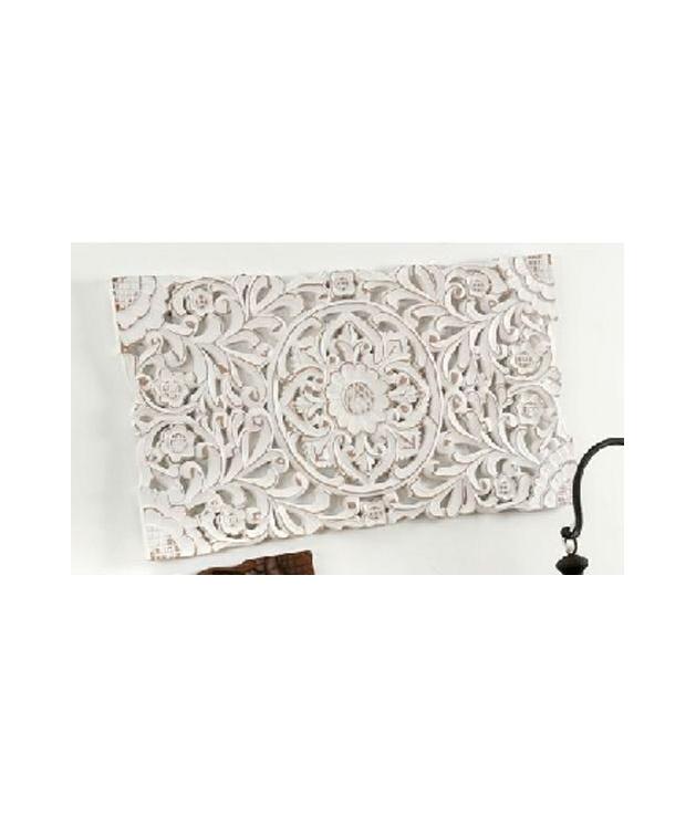 4ee3aa75d Comprar Cuadro panel madera tallado blanco envejecido 45 x 85 cm