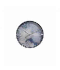 Reloj pared cristal / mdf / metal 40x6x40 cm