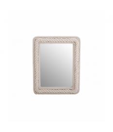 Espejo madera/ algodón 49x5x61 cm