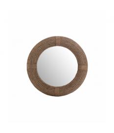 Espejo madera / algodón 93x8x93 cm