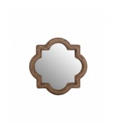 Espejo madera / algodón 90x7x90 cm