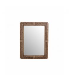 Espejo madera / algodón 77x7x105 cm