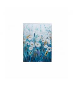 Cuadro cristal flores con marco 90x4x120 cm