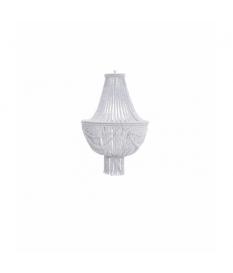Lámpara techo metal blanco mate 35x35x61 cm