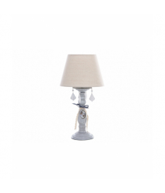 Lámpara sobremesa metal gris envejecido 25x25x53cm