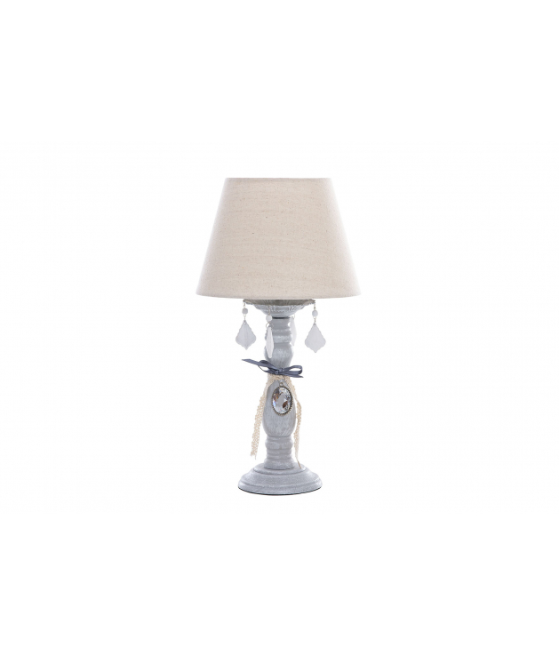 Lámpara sobremesa metal envejecido 25x25x47 cm