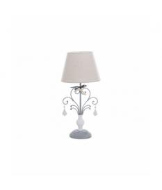 Lámpara sobremesa metal gris envejecido 25x25x55cm