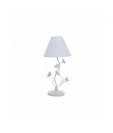 Lámpara sobremesa metal blanco mate 25x25x47 cm