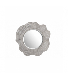 Espejo resina plata con relieve 107x3x107 cm