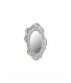 Espejo resina plata con relieve 66x4x110 cm
