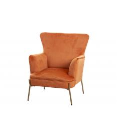 Sillón velvet naranja 85x85x93 cm