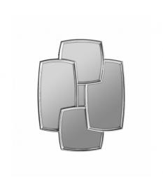 Espejo cuadris medio plata