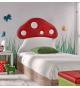 Cabecero cama modelo Seta polipiel para cama de 90cm.