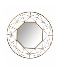 Espejo pared metal ›84cm dorad