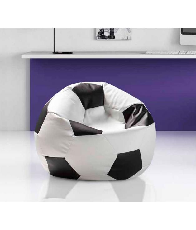 Puff modelo Balón XL polipiel de 80 cm.