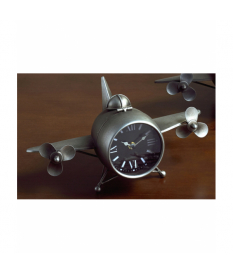 Reloj avión hélices forja plata envejecida