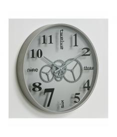 Reloj mecanismo pared plata