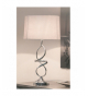 Lámpara de sobremesa Cintia plata