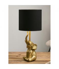 Lámpara de sobremesa resina elefante oro