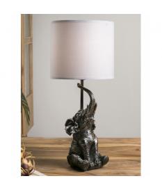 Lámpara de sobremesa resina elefante plata
