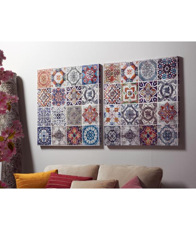 Óleo mosaico hidráulico