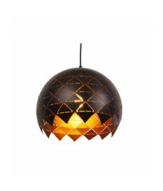 Lámpara de techo metal negra y dorada