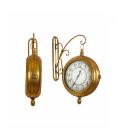 Reloj estación pared metal color dorado