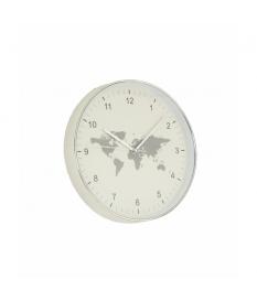 Reloj de pared mapa mundi blanco
