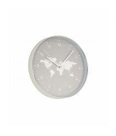 Reloj de pared mapa mundi gris