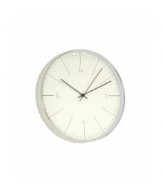 Reloj de pared cromado blanco pvc