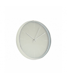 Reloj de pared cromado gris pvc