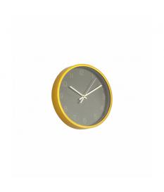 Reloj de pared dorado marmolado negro