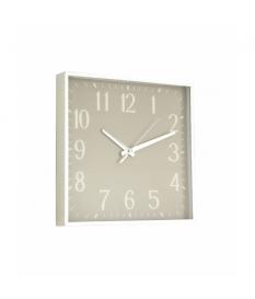 Reloj de pared cuadrado gris